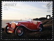 1948 MG TC (T-Type Series) Midget Roadster Car Automobile Stamp (2016 Jersey)