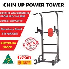 NEW Power Tower Chin Up Bar Push Pull Up Knee Raise Gym Station Weight Bench