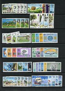 Bermuda #276//400, #MR1 & 2, #575a Comp Sets & Booklet, MNH,FVF, CV$99.90