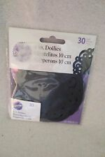 Wilton Doilies Swirl Black 30 in pack 4 in New 2104-5153