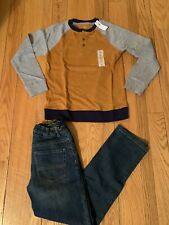 NEW Children's Place boys size 10 Jeans & Old Navy Shirt Sz 10-12 Outfit