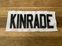 KINRADE Game Used Worn Ottawa Senators White Jersey Nameplate