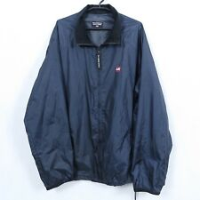 RALPH LAUREN Vtg Mens Blue Windbreaker Oversize Jacket Tracksuit Top Size XL