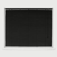 George Black Aluminium Venetian Blinds 25mm - 180x150cm Black