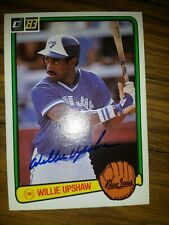 Autographed Willie Upshaw 1983 Donruss baseball card #558 Toronto Blue Jays