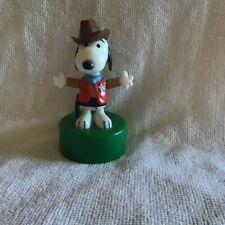 Vintage Push Button Puppet Ideal  Snoopy Cowboy