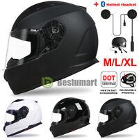 Dot Safety Motorcycle Full Face Helmet Adult Modular Street Bike Racing  M L XL