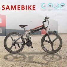 SAMEBIKE 26In Folding Electric Bike Bicycle E-Bike 48V 350W 10AH 21 Speed Black