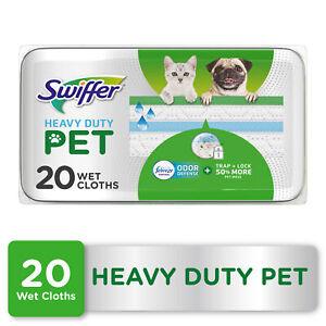 Swiffer Heavy Duty Pet Wet Pad Refills, Febreze Odor Defense, 20 Ct