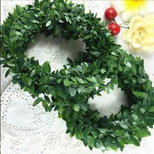 3.75M 150inch/pcs Silk Garland Green Flowers Wreath DIY Decoration Car Wedding