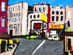 Paris Street Original Modern Oil Painting Contemporary French Art Neal Turner NR