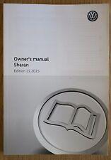 Genuine Vw Sharan Manual Owners Manual Guía Libro 2010-2016 11815