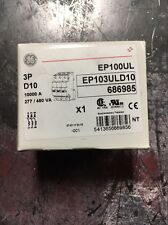 NEW! GE, EP103ULD10, 3-POLE, SUPPLEMENTARY PROTECTOR, 10A, 277/480, NEW! (G5)