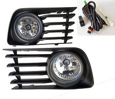 For 2004-2009 Toyota Prius Clear Fog Driving Lights Kit with Bezel Switch Bulbs
