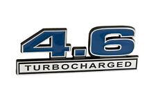 "1996-2010 Ford Mustang GT 4.6 Turbocharged 5"" Emblem Blue Inlay w/ Chrome Trim"