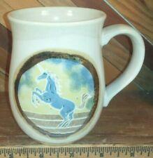 "Vintage Otagiri Japan ""Mythological Unicorn"" Stoneware Pottery Coffee Cup Mug"