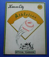 Original 1963 Kansas City Athletics Official Baseball Yearbook