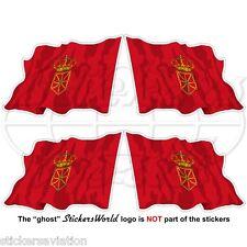 "NAVARRE Flying Flag SPAIN Navarra, Nafarroa Spanish 50mm (2"") Stickers Decals x4"