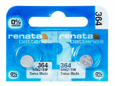 2 x Renata 364 Pile Batterie Blister Mercury Free Silver Oxide SR621SW 1.55V