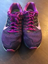 Womens Nike Zoom Structure 19 Size 11 Black Pink Purple
