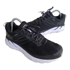Hoka One One Clifton 6 Mens Size 8 Black Athletic Running Walking Shoes Sneakers
