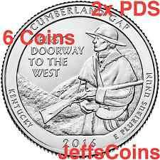 2016 2x PDS Cumberland Gap National Historical Park QUARTER SET 6 New P D S Mint