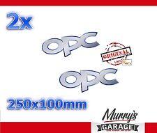 2x ORIGINAL Opel OPC Aufkleber, Sticker, Decal, Autocollat, Étiquette Neues Logo