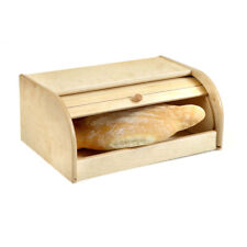 Portapane in legno stile retrò chiusura a scomparsa contenitore x pane cornetti