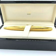 "Dunhill 00NY1713 Gold Plated Stainless Steel 6"" Rollerball Pen Gift"