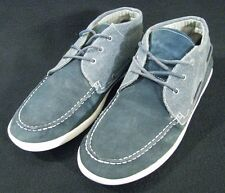 Structure Mens Canvas and Leather Boat Shoes Blue Size 13M  46.5 EUR
