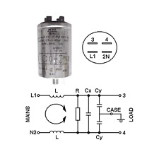 MAINS FILTER STUD MOUNTED Cx: 0.47µF MKT X2   Cy: 0.005µF MKT