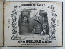 piano duet 4 hands CROQUEMITAINE bohlman sauzeau , circa 1840 cover art