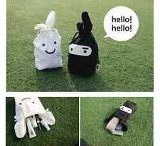 2 x Cute rabbit ninja white black travel Handbag organizer bag DIY tidy up trip