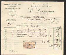"""LA ROCHELLE (17) USINE de MATELAS / COUTILS & LAINES """"D. LESAUVAGE"""" en 1934"""