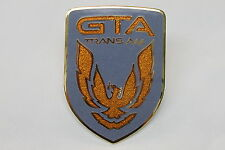 87-91 Trans Am GTA Gunmetal Gray Front Bumper Emblem New