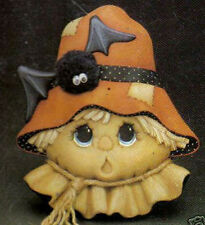 Ceramic Bisque Ready to paint Scarecrow Door Greeter with touch tone music box