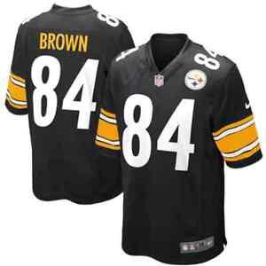 💯% Genuine NFL Antonio Brown Pittsburgh Steelers Nike Game Jersey - Black XL