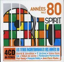 Coffret 4 CD - Spirit of 80 : Les Incontournables des Années 80 (80 titres) NEUF