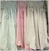 Celina brand ladies ruffle bottom one size striped cotton pants