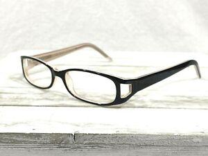 Legacy Lane 23 Black Ivory Womens Rx Eyeglass Frames 52▯16-135