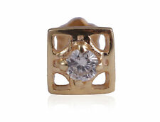 In Fine Certified 18Karat Yellow Gold Stylish 0.04 Cts Natural Diamond Nose Stud