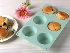 KATIE ALICE Cottage Flower 6 Cup Green Silcone MUFFIN MOULD Cases