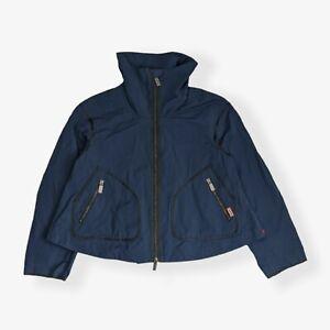 Hunter Original Cropped Navy Waterproof Rain Zip Jacket - Womens Size M 8-10