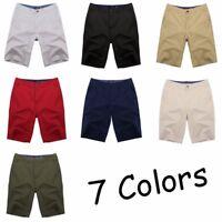INCERUN Men's Cotton Cargo Work Combat Shorts Pants Casual Chino Baggy Trunks