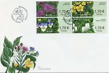 More details for aland wild flowers stamps 2020 fdc franking labels nature flora 4v s/a strip