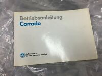 VW CORRADO OWNERS USER MANUAL HANDBOOK BOOKLET DEUTSCH BETRIEBSANLEITUNG