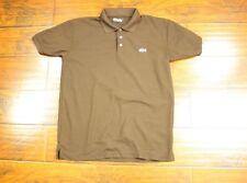 Lacoste SS Short Sleeve Polo Shirt M Medium Brown Pique Golf