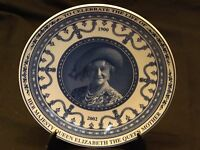 Wedgwood Queens Ware China Commemorative Plate The Life of Queen Mother British