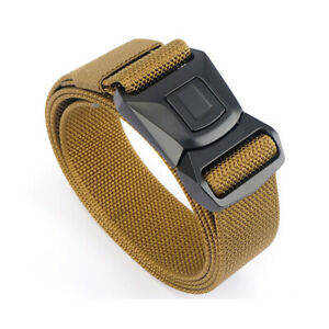 Quick Button Release Buckle Military Belt Strap Tactical Rigger Waistband