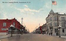 Jamestown North Dakota 5th Avenue Looking South Antique Postcard (J37373)